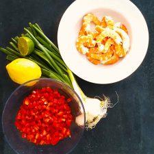 Ceviche de crevettes aux poivrons tout simple