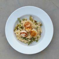 risotto Saint-Jacques et asperges vertes