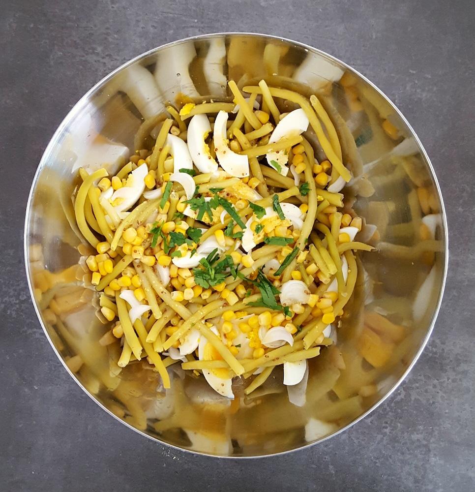 Salade toute jaune aux haricots beurre