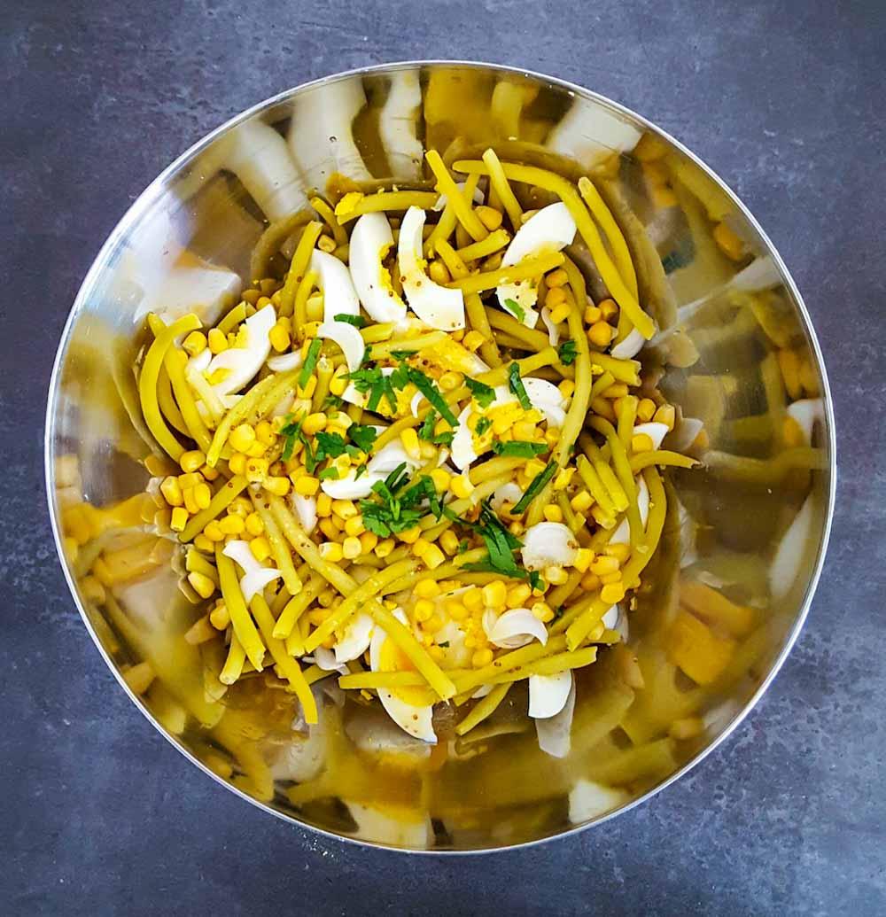 Salade toute jaune aux haricots beurre - la cerise sur le maillot