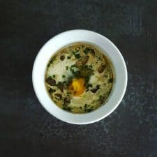 Oeuf cocotte champignons