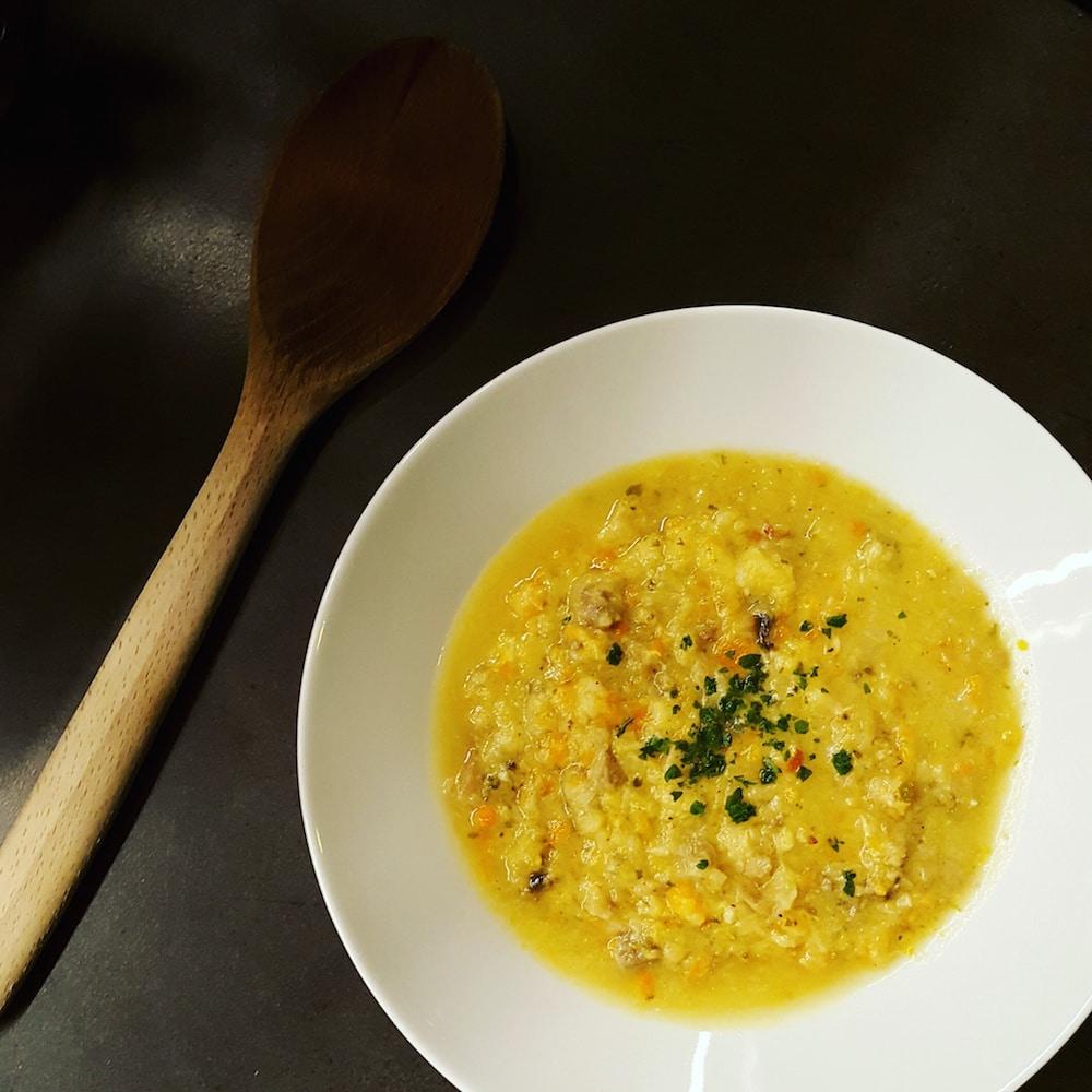 Soupe CCC (carottes, champignons, chou)