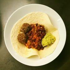 Tacos chili-boulette de bœuf épicé