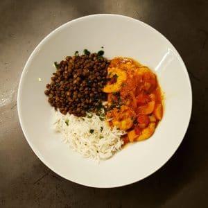 Curry de crevettes aux saveurs thaï