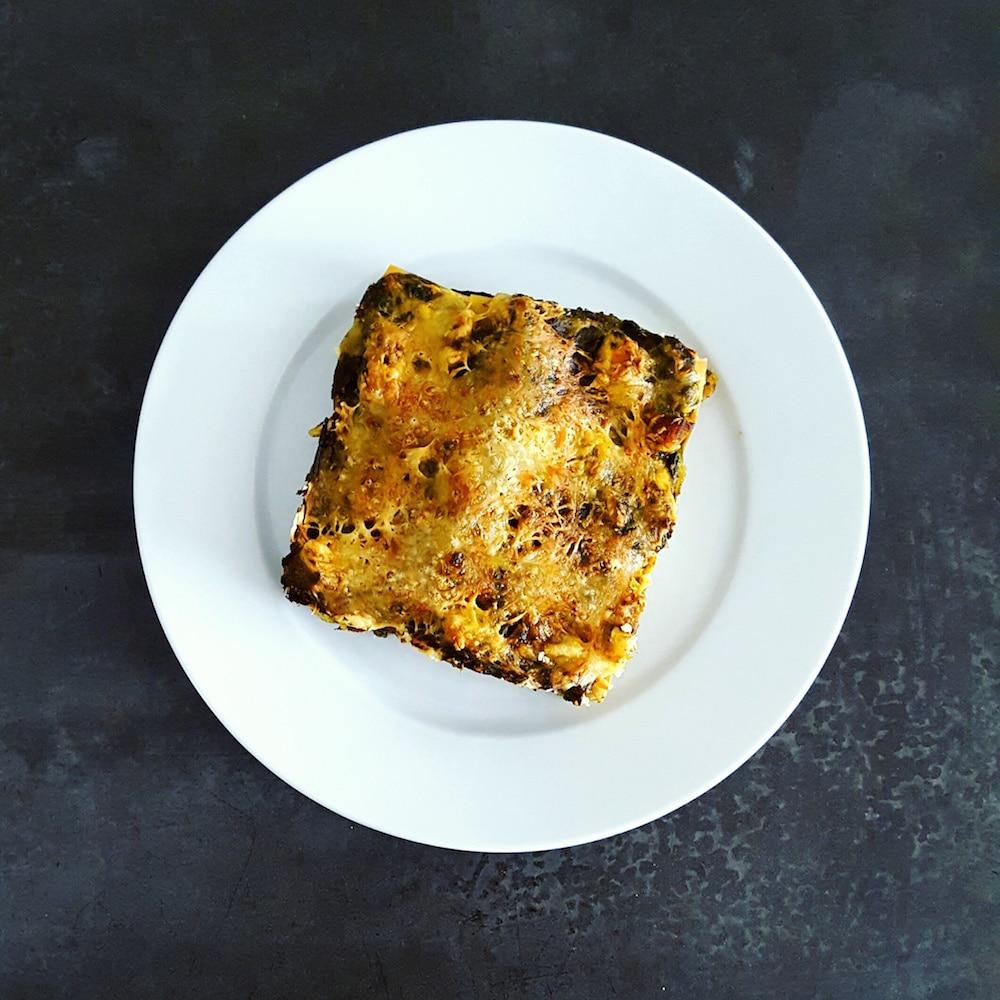 Lasagnes aux blettes et au poulet