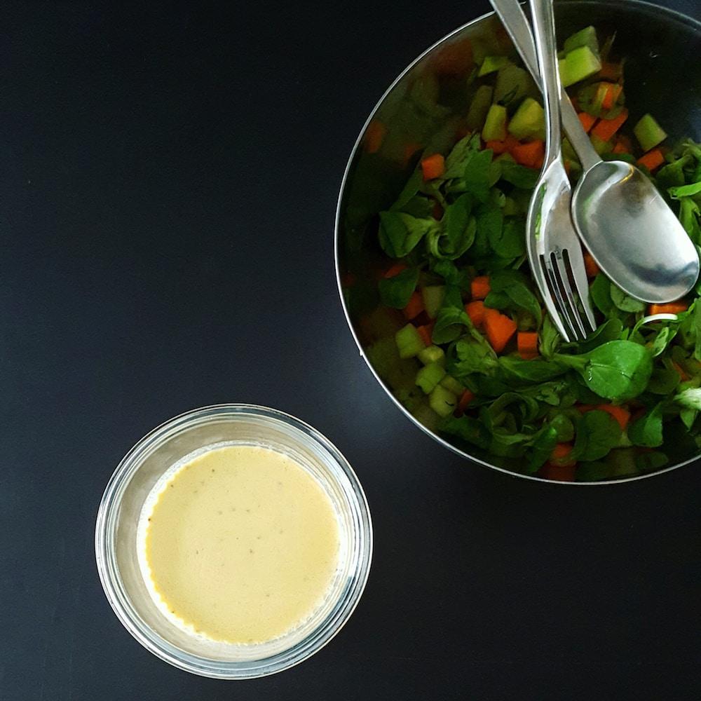 Sauce salade légère et onctueuse