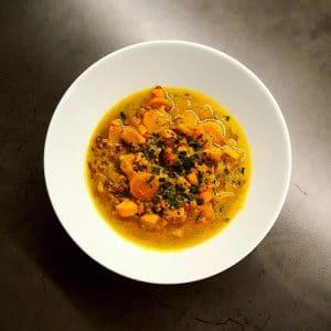 Soupe indienne au poulet mulligatawny