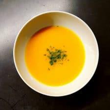 Soupe de légumes au potimarron