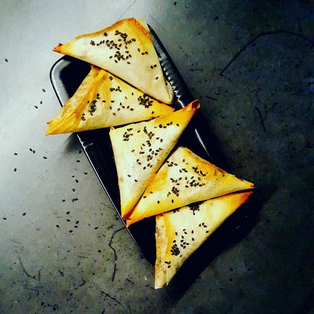 Samoussas cèpes-canard