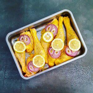 Cuisse de poulet à la moutarde au miel en cuisson douce - la cerise sur le maillot