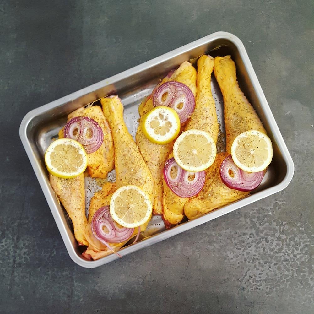 Cuisse de poulet la moutarde au miel en cuisson douce la cerise sur le maillot - Cuisse de poulet a la moutarde au four ...