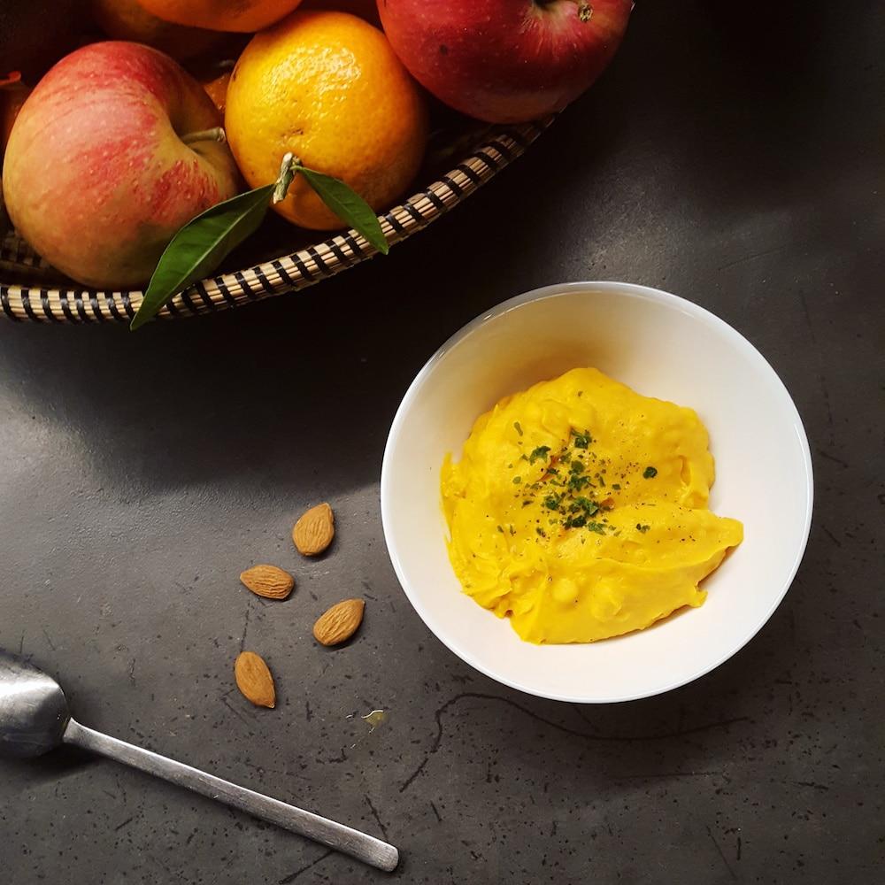 Purée de potimarron et patate douce à tomber