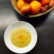 Soupe de romanesco, poireau et topinambours au quinoa