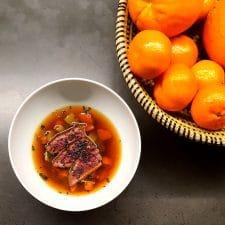 Bouillon miso et bœuf esprit pot-au-feu