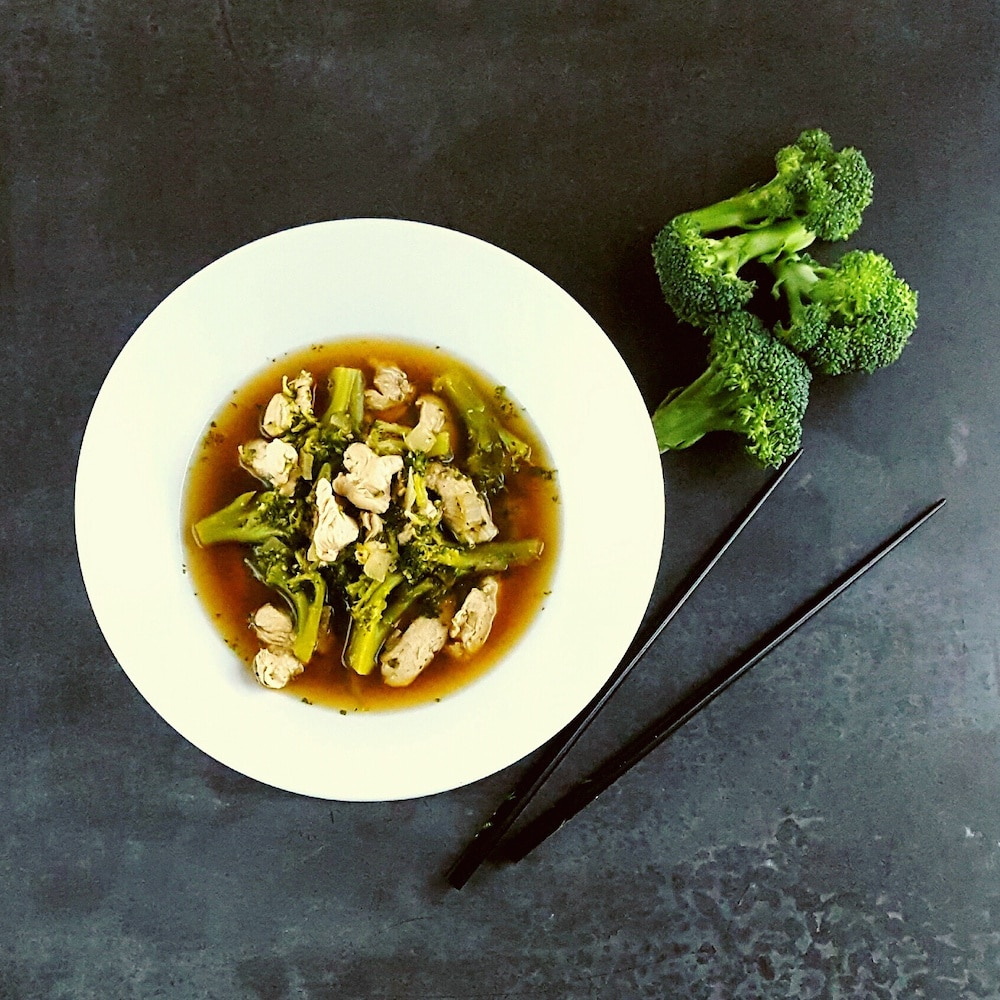 Bouillon miso-dinde-brocoli