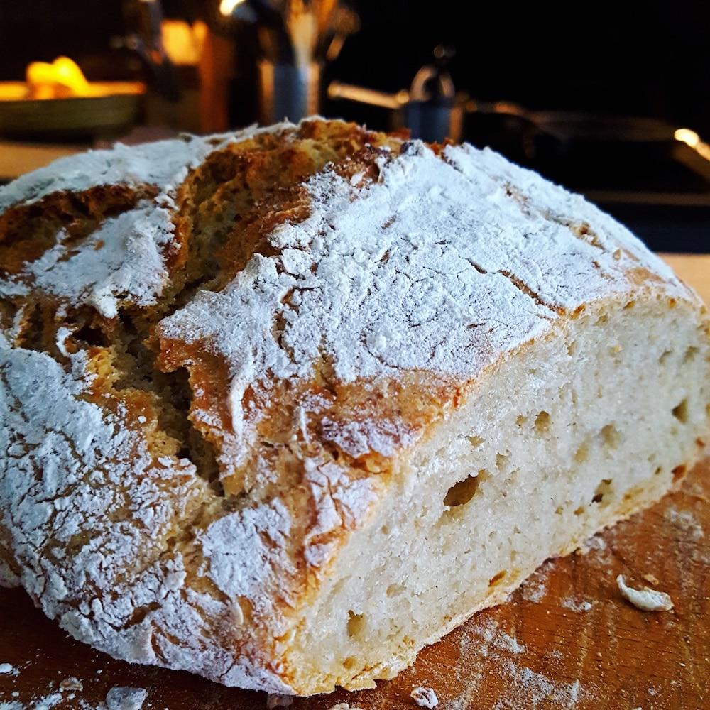 Pain de campagne sans machine à pain ni pétrissage
