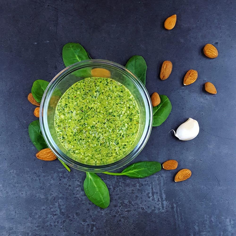 Pesto d'hiver aux pousses d'épinards