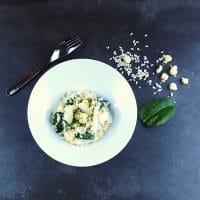 Risotto pétoncles et épinards frais