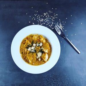 Curry de lentilles dal et chou-fleur