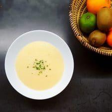 Soupe toute douce de panais à l'oignon doux des Cévennes