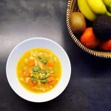 Soupe paysanne au pesto
