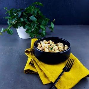 Poulet à la moutarde-estragon-champignons trop facile et trop bon