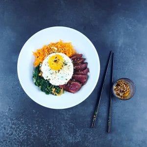 Hotpot coréen au bœuf ou bibimbap