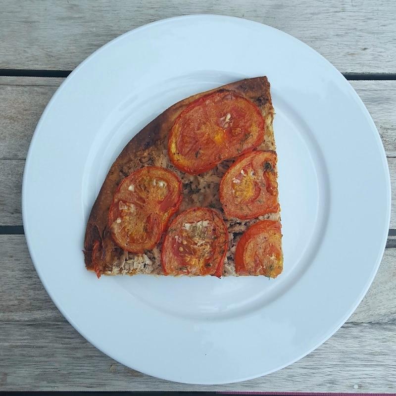 Tarte thon, tomates, moutarde