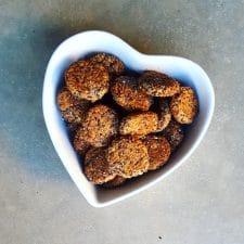 Falafels légers aux haricots rouges et sésame noir