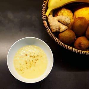 Soupe de radis noir et poireau à la cardamone - soupe detox - la cerise sur le maillot