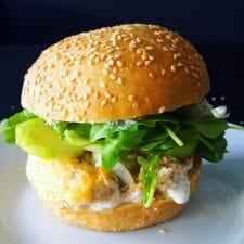 Fresh burger au saumon mi-cuit