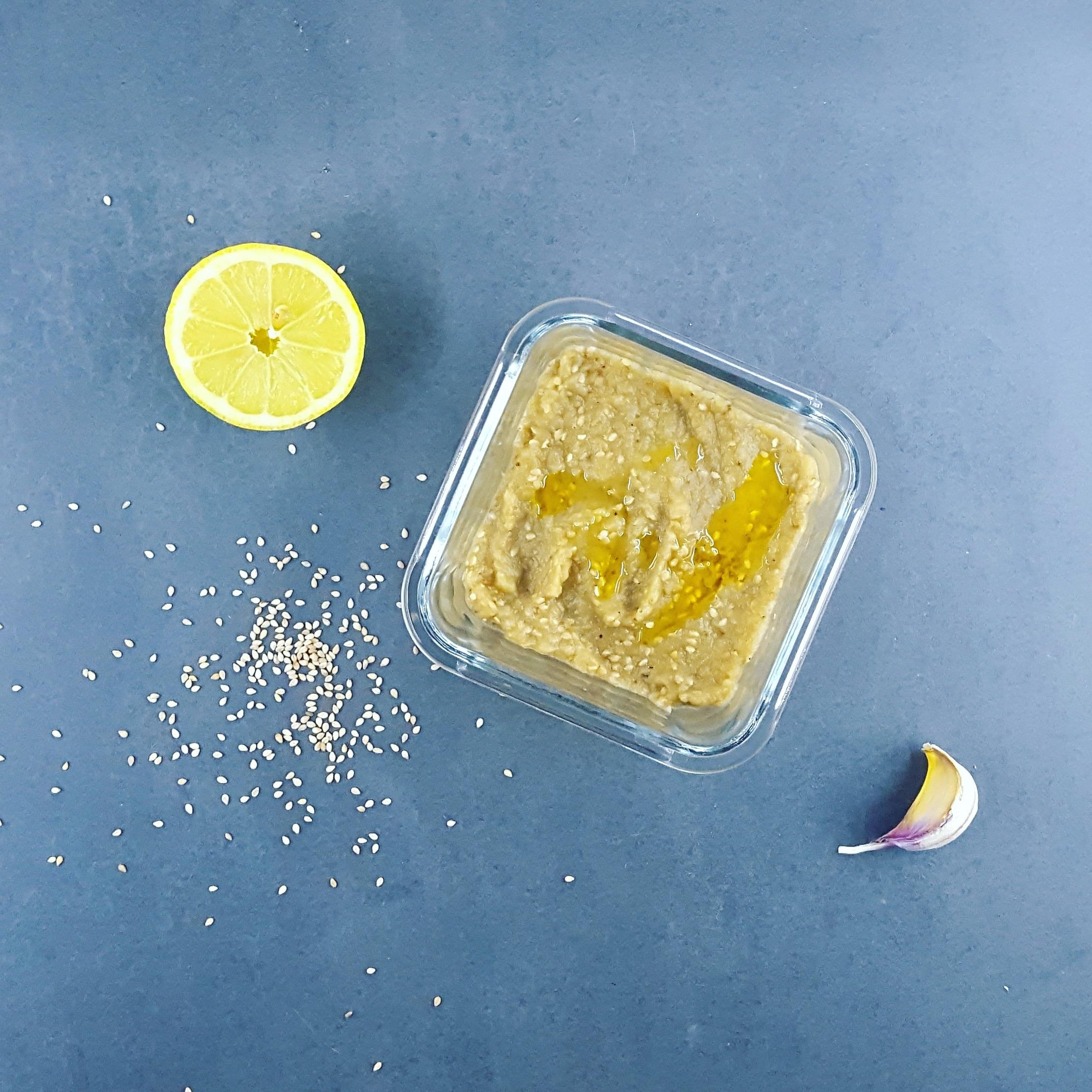 Caviar d'aubergine au sésame