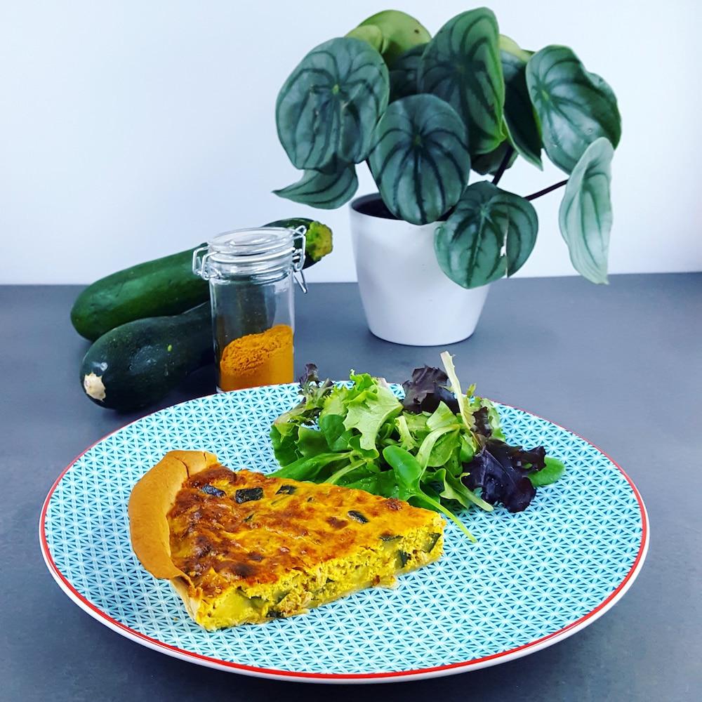 Quiche courgette-thon au curry