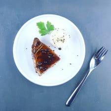 Steak de thon mi-cuit laqué