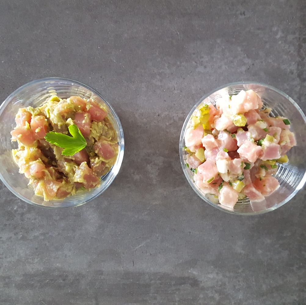 Tartare de thon en 2 versions