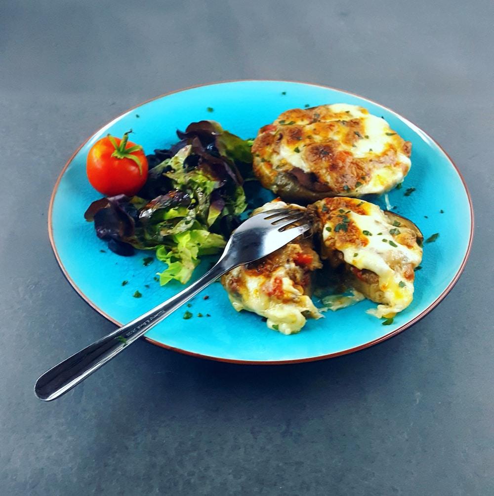 Aubergine farcie à l'italienne (veggie)
