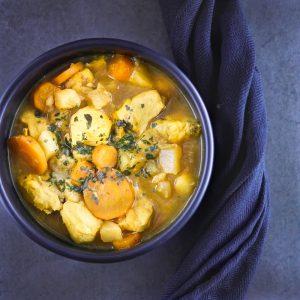 Cocotte de poulet aux légumes et citrons confits - recette de plat unique - la cerise sur le maillot