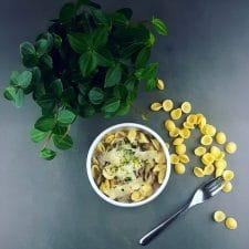 Pastasotto du Sud-Ouest au magret fumé et champignons