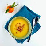 Velouté de chou-fleur au bacon - soupe repas - la cerise sur le maillot