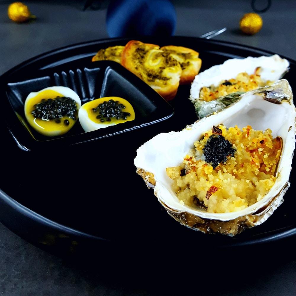 Entrée chic et festive autour du caviar