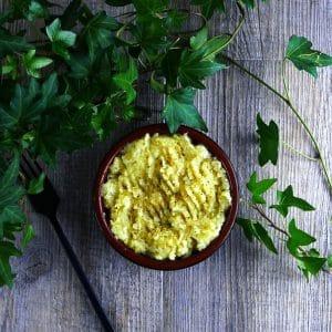 Purée de panais à l'huile d'olive et à l'origan - recette panais - la cerise sur le maillot