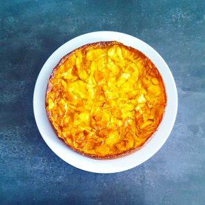 Gâteau léger aux pommes (sans gluten) - la cerise sur le maillot