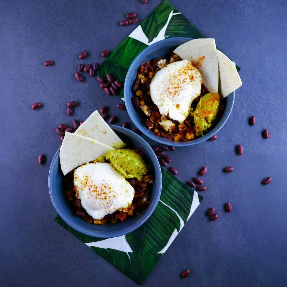 Huevos Rancheros - recette avec des oeufs - la cerise sur le maillot