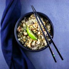 Risothaï aux crevettes et champignons