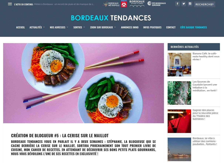 Bordeaux tendances - Création de blogueur - avril 2018