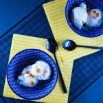 Frozen yogurt léger au miel et oranges confites - la cerise sur le maillot