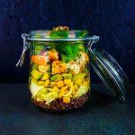 Bocasalade crevettes, quinoa et sauce au cumin - la cerise sur le maillot