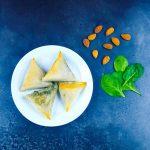 Samoussas feta-épinard-amandes - La cerise sur le maillot