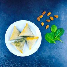 Samoussas feta-épinard-amandes