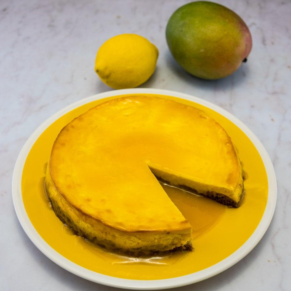 Cheesecake des îles (mangue-coco) - la cerise sur le maillot